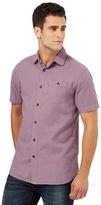 Mantaray Big And Tall Purple Basket Weave Shirt