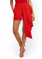 Thumbnail for your product : New York & Co. Asymmetrical Drape-Front Short |