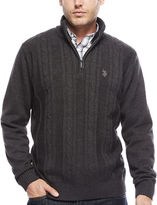 USPA U.S. Polo Assn. Long-Sleeve Cableknit Quarter-Zip Sweater