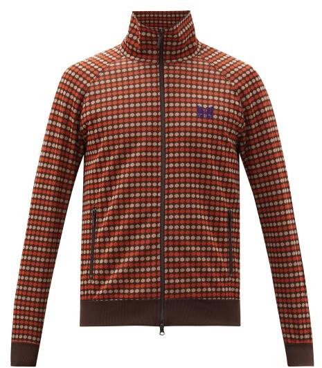 Needles Geometric Dot-jacquard Track Jacket - Brown