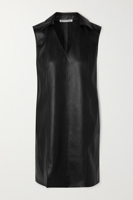 Alexander Wang Faux Leather Mini Dress - Black