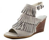 Very Volatile Notion Women Open Toe Suede Wedge Sandal.