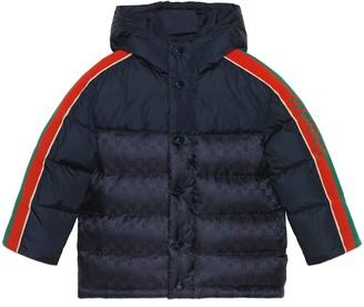 Gucci Children's GG nylon down jacket