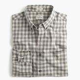 J.Crew Slim Secret Wash shirt in heather poplin grey plaid