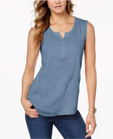 Style&Co. Style & Co Petite Embroidered Top, Created for Macy's