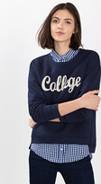 Esprit Sweatshirt in a college look, cotton blend
