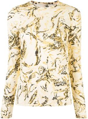 Proenza Schouler Painted Figures long-sleeve T-shirt