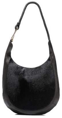 Halston Brooke Calf Hair And Textured-leather Shoulder Bag