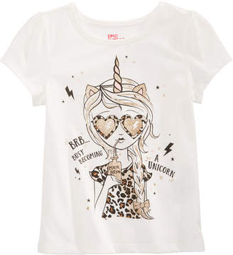 Epic Threads Toddler Girls Becoming A Unicorn T-Shirt