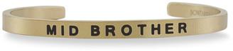 Sontakey Boy's Mid Brother Engraved Bangle Bracelet