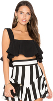 Milly Ruffle Cropped Tank
