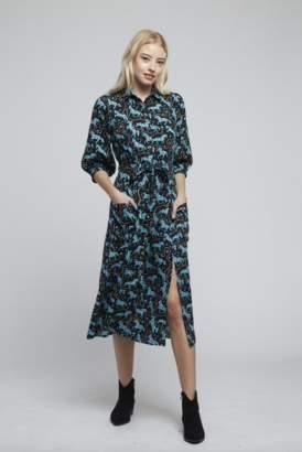 Louche Horse Print Shirt Dress - 8 | navy - Navy