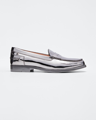 Tod's Alber Moccasino Metallic Loafers