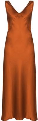 ASCENO The Bordeaux slip dress