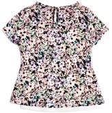 Aqua Girls' Floral Print Top - Sizes S-XL