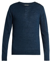 Oliver Spencer Crew-neck linen and cotton-blend sweater