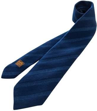 Hermes Blue Wool Ties