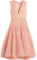 Lela Rose Fil Coupé Organza Dress - Blush