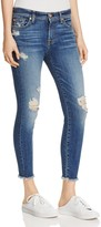 7 For All Mankind Distressed Ankle Skinny Jeans in Serratoga Bay