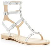 Rebecca Minkoff Georgina Metallic Studded Flat Gladiator Sandals