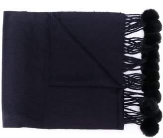 N.Peal rabbit fur bobble scarf