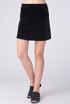 Honey Punch Black Velvet Skirt