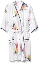 Gap Floral print tie-belt robe