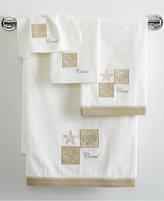 "Avanti Metallic Shells 11"" x 18"" Fingertip Towel"