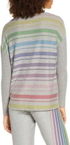 Chaser Rainbow Stripe Cozy Pullover