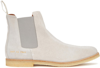 Common Projects Stone Brushed Suede Chelsea Boots