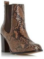 Dune Ladies PRYNN Block Heel Chelsea Boot in Natural Size UK 7