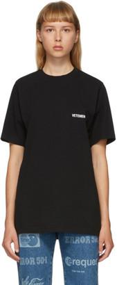 Vetements Black Logo Front Back T-Shirt