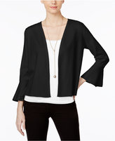 Alfani Petite Ruffle-Sleeve Cardigan, Only at Macy's