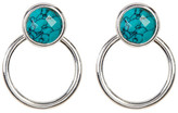 Argentovivo Sterling Silver Turquoise Drop Mini Hoop Stud Earrings