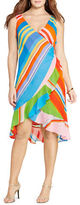 Lauren Ralph Lauren Plus Striped Georgette Wrap Dress