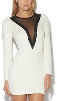 Arden B Vertical Mesh Inset Dress