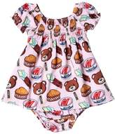 Moschino Bear Cotton Jersey Dress & Diaper Cover