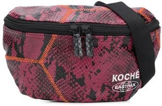 Koché x Eastpak snakeskin-print belt bag