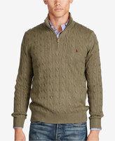 Polo Ralph Lauren Men's Tussah Silk Half-Zip Sweater