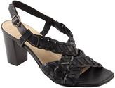 David Tate Leather Woven Sandals - Amarone