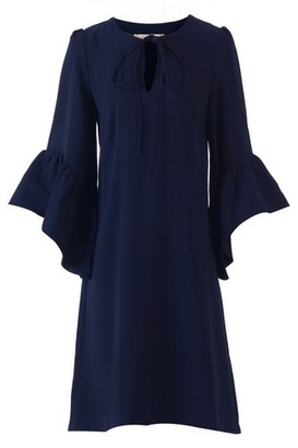 Dorothy Perkins Womens Jolie Moi Navy Flare Sleeved Shift Dress, Navy