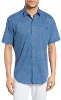 James Campbell Men's Sanders Print Sport Shirt