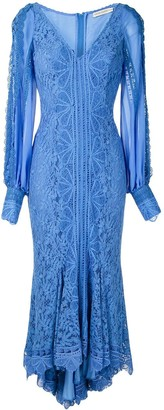 Martha Medeiros Agatha lace midi dress