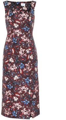 Erdem Arlie floral wool-blend dress