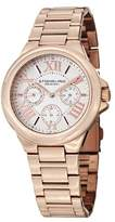 Stuhrling Original Symphony Regent Lady Pontiff Women's Quartz Watch with White Dial Analogue Display and Rose Gold Plated Stainless Steel Bracelet 367.03