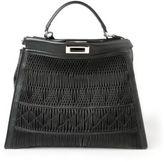 Fendi Peekaboo Large Plisse Leather Satchel