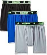 Champion Men's Active Performance Boxer Brief Black/Concrete