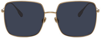 Christian Dior Gold and Blue DiorStellaire1 Sunglasses