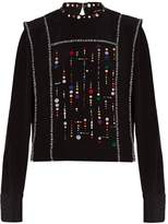 Isabel Marant Fawna embroidered top