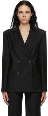 LOULOU STUDIO Black Tatakoto Double Breasted Blazer